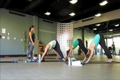 yome yoga video. yoga with weights! maybe a good once a week 'reach' practice.