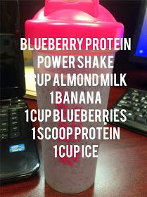 Berry Protein Shake Made a shake similar to this one this evening I did not have blueberries so I just subbed in strawberries I used unsweetened almond milk Only half of. Protein Snacks, Pancakes Protein, Protein Smoothies, Healthy Morning Smoothies, Healthy Drinks, Yummy Smoothies, Healthy Recipes, Diet Drinks, Healthy Meals