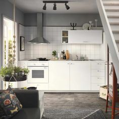 LILLTRÄSK Countertop, white, laminate, Spills and grease are easy to wipe clean and the countertop retains its beauty over time. Laminate Countertops, Kitchen Countertops, Kitchen Cabinets, Kitchen Buffet, Rustic Kitchen, Small Space Kitchen, Small Spaces, New Furniture, Kitchen Furniture