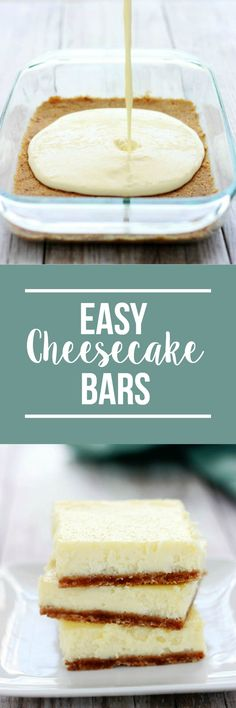 Easy Cheesecake Bars More