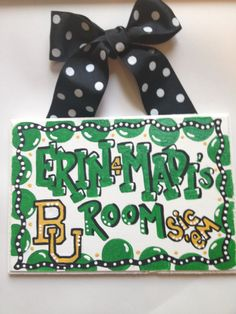 Baylor Bears Dorm Room Sign Hand painted by TheCrazyPolkaDot, $23.00