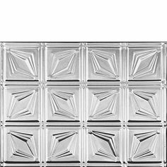 0611 PRISM BACKSPLASH - Clear Coated Aluminum by Decorative Ceiling Tiles Inc.. $11.25. Are you looking for the Stainless Steel Look? Then this is is your ticket. Our Clear Coated Aluminum tiles come fully finished and all you have to do with them is to install them to a plywood ceiling or drop them into a grid system. These tiles closely resemble the look of Stainless Steel. Using Tin Snips, these tiles can be easily cut to size and either nailed up or dropped in depending on yo...