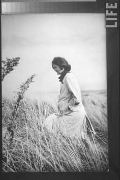 #Jackie_Photos  http://en.wikipedia.org/wiki/Jacqueline_Kennedy_Onassis   Jacqueline Kennedy, wife of Dem. Pres. cand., taking a quiet walk through tall grass along beach nr. the Kennedy compound on election day. Location:Hyannis Port, MA, USDate taken:November 1960 Photographer Paul Schutzer.❤★❤★❤★❤★❤