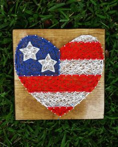 American Flag Heart String Art / Made to by StressedOutStudios
