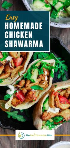 This recipe is a great weeknight meal for your family. Learn how to make these with all the tip and tricks for perfect flavoring! #chickenshawarma #homemadechickenshawarma #dinnerideas Vegetarian Recipes Easy, Clean Eating Recipes, Healthy Recipes, Easy Recipes, Greek Chicken Recipes, Greek Recipes, Healthy Meals For Kids, Easy Healthy Dinners, Egyptian Food