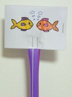 Fish in bowl optical illusion craft for kids. Free printable templates.