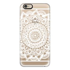 iPhone 6 Plus/6/5/5s/5c Case - White Tribal Lace Mandala on Clear ($40) ❤ liked on Polyvore featuring accessories, tech accessories, phone cases, phone, electronics, technology, iphone case, apple iphone cases, clear iphone cases and white iphone 5 case
