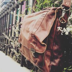 MAHI Satchel in Vintage Brown. Link in bio.