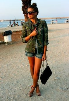 casual camo jacket #summer