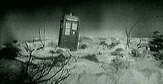 The TARDIS as seen on the first episode of Doctor Who, 1963 #gif