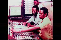 singer Joe White and engineer Sylvan Morris at the console (Harry J standing behind them). Which studio?