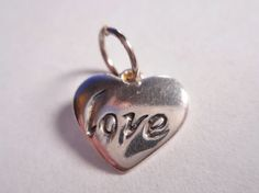 Jezlaine Vintage Sterling Silver Small Heart Charm ~ Love ~ by HavensAtticJewelry on Etsy