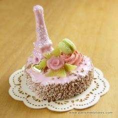 Miniature Pink Eiffel Tower Cake