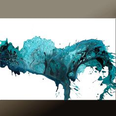 Abstract Modern Art Painting 36x24  Original Modern by wostudios, $129.00