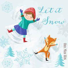 Christmas character snow angel with fox Ohn Mar Win