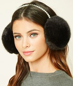 Pearl and faux fur earmuffs for any aspiring Blair Waldorf. | 26 Gifts That Only Look Expensive