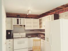 Remove The Soffit Above Your Kitchen Cabinets From Big Plan, Little Budget  Blog