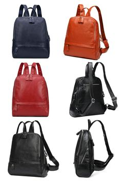 50eefd5bbd72 Top Cowhide Leather Bag Women Casual Backpack (Free Worldwide Shipping)