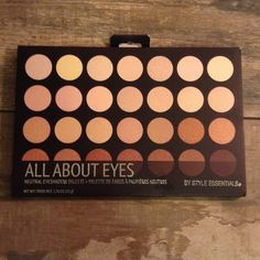 HP NIB All About Eyes 28 neutral eye shadows Amazing colors that can be combined or used alone to create a beautiful natural look. Each poid is 1.76grams Style Essentials  Makeup