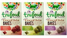 Wellness TruFood Living Nutrition Grain Free CocoChia Bakes Snacks For Dogs 3 Flavor Variety Bundle: (1) Wellness TruFood CocoChia Bakes With Chicken, Beets and Coconut Oil, (1) Wellness TruFood CocoChia Bakes With Lamb, Purple Carrots and Coconut Oil, and (1) Wellness TruFoods CocoChia Bakes With Salmon, Coconut Oil and Spinach, 5 Oz. Ea (3 Boxes Total) ** Continue to the product at the image link. (This is an affiliate link and I receive a commission for the sales)
