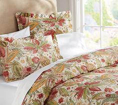 Courtney Floral Organic Duvet Cover & Sham #potterybarn