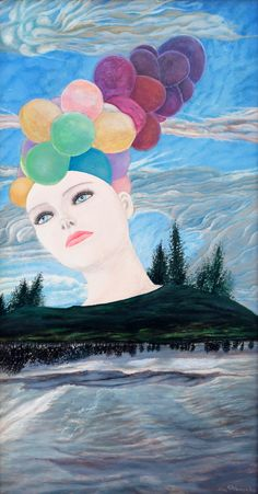 BALLOONS | 47 x 87 cm | Acrylic and Oil Painting on Hardboard| by Krzysztof Polaczenko ® 2014