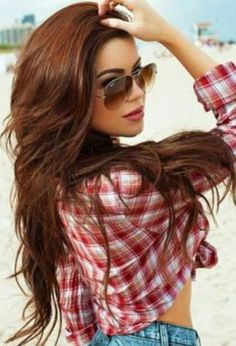 brown beach waves  http://www.hairstylo.com/2015/07/brown-hair-color.html