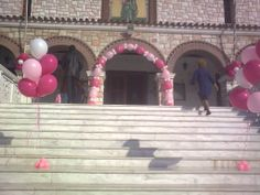Μπαλόνια  για  βάπτιση ,  αψίδα  και  μπαλόνια  ηλίου  για  κοριτσάκι!  www.mpalonia.gr