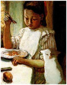 L'enfant au Chat, 1906 - Pierre Bonnard (French, 1867-1947)