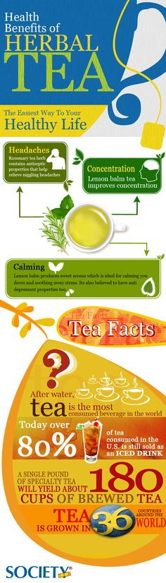 Infographics - The Health Benefits of Herbal Tea