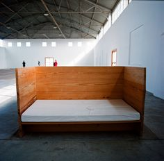 donald judd wood bed