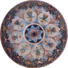"39.37"" Stone and Marble Kitchen Backsplash Tiles Mosaic Medallions ..."
