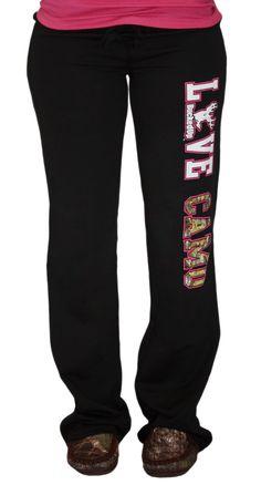 Junior LOVE CAMO Black Sweatpants