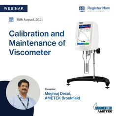 Are you concerned about the accuracy of your Viscometer? Join our upcoming webinar. Our team of experienced, well-trained, and certified service technicians will help you to standardize the operating procedure for calibration and maintenance of your Viscometers. Date & Time: 18th August, 3 PM IST Register now! #FreeWebinar #LiveWebinar Center Of Excellence, World Leaders, 3 Pm, Learning, Centre, 18th, Join, India, Goa India