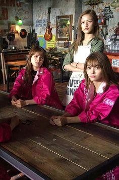 Kaede & Sato Harumi & Shuuka Fujii #TwinTower Japanese Girl Group, Mp3 Song, Girls Dream, High Low, Actresses, Songs, Celebrities, Music, Crows Zero
