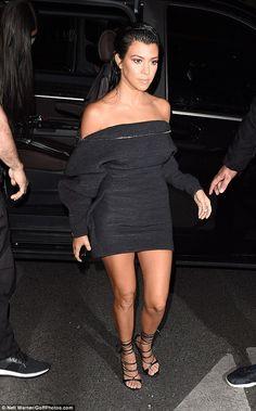 Kourtney takes Paris: The oldest Kardashian sibling has been enjoying everything fashion week has to offer