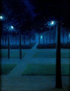 William Degouve de Nuncques - Nocturne in the Parc Royal, Brussels by naezdok, via Flickr