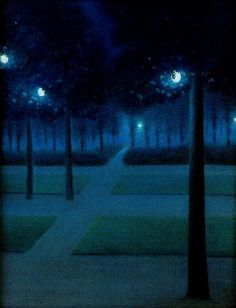 William Degouve de Nuncques - Nocturne in the Parc Royal, Brussels by naezdok, via Flickr