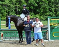 Miranda & rosso at Hits Saugerties with trainer Robert beck
