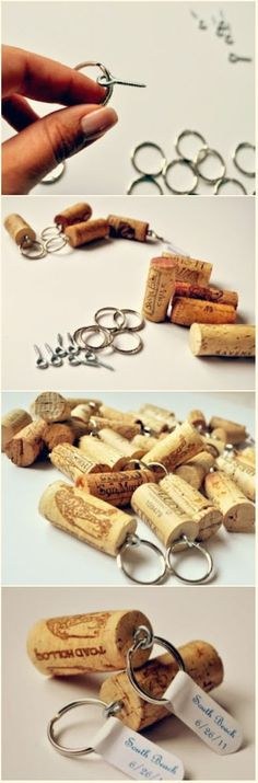 Jul 2016 - // Besides wine bottle craft ideas there are also lots of ideas for crafting with wine corks. Each bottle comes with a cork, so if you're making a wine bottle craft, you might as well use the… Wine Craft, Wine Cork Crafts, Wine Bottle Crafts, Crafts With Corks, Wine Cork Projects, Craft Projects, Wine Cork Art, Wine Cork Jewelry, Cork Ornaments