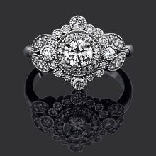 Great Gatsby 18ct white gold with total diamond weight 0.70ct   Chilton's Antiques