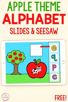Apple Activities, Alphabet Activities, Kindergarten Activities, Classroom Activities, Creative Curriculum Preschool, Free Preschool, Free Math, Learning The Alphabet, Fun Learning
