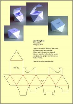 Packaging design inspiration Structural Packaging A Quick Look at Depression and Teen Suicide An ala Packaging Dielines, Packaging Box, Perfume Packaging, Jewelry Packaging, Diy Gift Box, Diy Box, Diy Paper, Paper Crafts, Creative Box