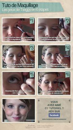 Maquillage Twiggy : quelle est son inspiration ? | Vintage Make-up