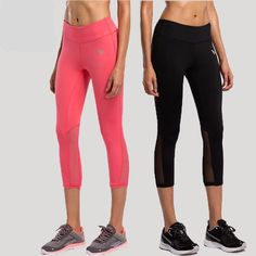 One of the staplesof a yoga wardrobe! Fanastic yoga pants with 2 great colors to pick from:     Have a nice breathable mesh cutout at the back of knee, right where you need some flexibility and air movement. We have a couple of these within reach all the time.    https://zenyogahub.com/collections/yoga-pants/products/yoga-pants-elastic-mesh