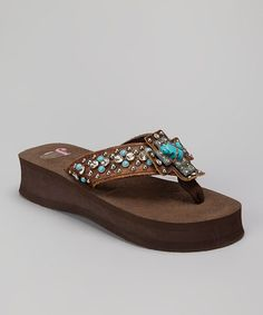 4c2fce6feff171 Justin Boots Brown Shawna Platform Flip-Flop - Women · SandalsFlatsPlatform  ...
