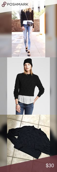 Banana Republic cropped cable knit sweater Adorable sweater! Detailed large cable knit with mock turtleneck-  Banana Republic Sweaters