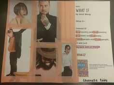 """Chanelle E. also created this poem collage for """"What If"""" by Janet Wong during WWU Poetry Mini Camp. Collages, Poems, Mini, People, Poetry, Verses, People Illustration, Collage, Poem"""