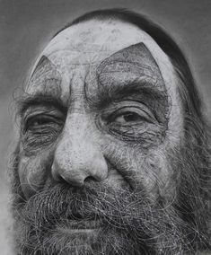 """Illusion: In addition to using charcoal, artist Douglas McDougall uses Stanley blades, sharply cut erasers, and coarse sandpaper to texturally scrape the surface of his drawings. It is """"a combination of improvisational actions and controlled decision swings that become a series of crossroads for marking time spent at the drawing board.     http://illusion.scene360.com/art/36019/scratching-the-surface/"""