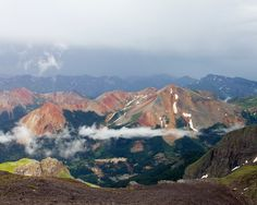 Imogene Pass  Overview of Red Mountains (Ouray, CO)  Photo by Mike Oberg